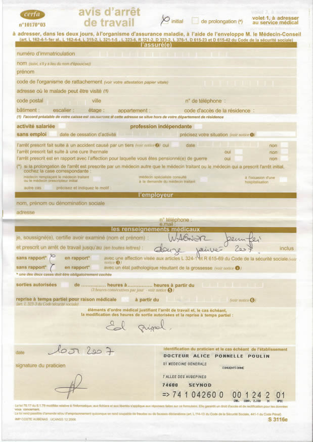 Arret De Travail Formation Sur Le Forum Blabla 25 35 Ans 20 12