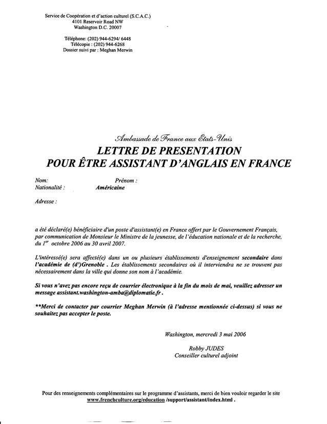 English Language Assistants in France Documents and Links