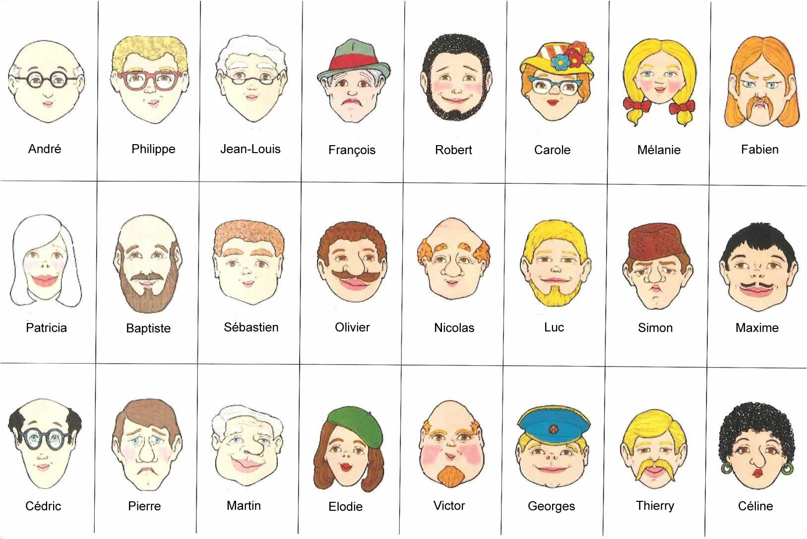 graphic regarding Guess Who Game Printable named Clroom Game titles for Introductory / Starting French Cles