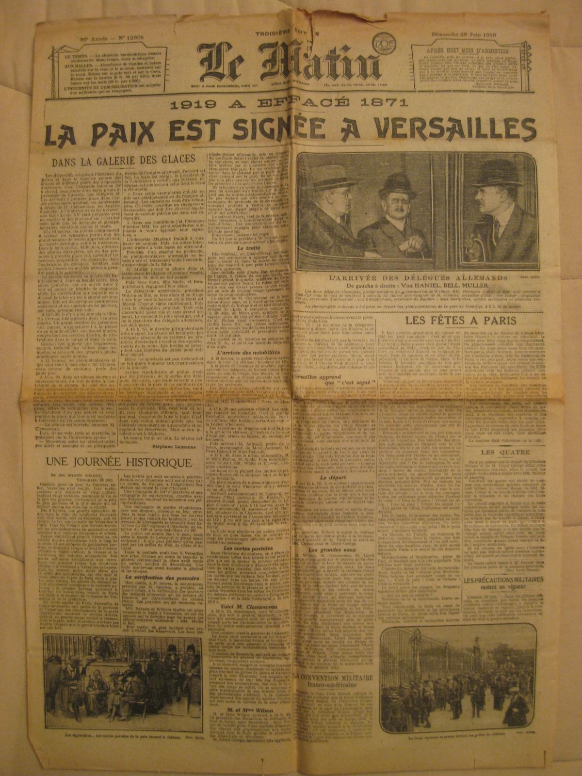 Treaty of Versailles Worksheet